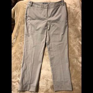 EXPRESS EDITOR, Women's Size: 4 Gray Cuffed Pants